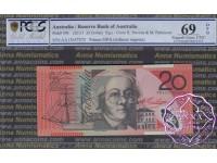 2013 $20 R422aF AA13 Stevens/Parkinson PCGS 69 OPQ