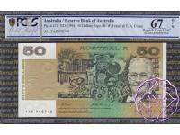 1993 $50 R515L FAB Fraser/Evans PCGS 67 OPQ