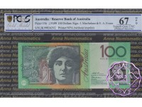 1999 R618bL JK99 $100 Macfarlane/Evans PCGS 67 OPQ