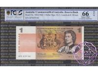 1966 $1 R71 Coombs/Wilson PCGS 66OPQ