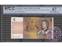 1982 R78L $1 Johnston/Stone DPS PCGS 67 OPQ