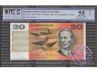 1979 $20 R407b Knight/Stone PCGS 55 OPQ Error Cut