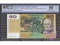 1985 $50 R509b Johnston/Fraser PCGS 58 OPQ
