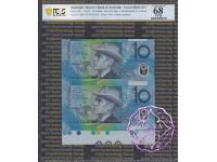 1997 $10 U21 Macfarlane/Evans Uncut of 2 Red PCGS 68 OPQ