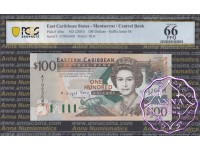 East Caribbean 2003 Dominica Central Bank $100 PCGS 66 PPQ