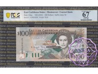 East Caribbean 2003 Dominica Central Bank $100 PCGS 67 PPQ