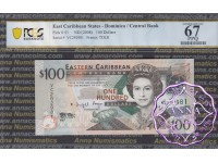 East Caribbean 2008 Dominica Central Bank $100 PCGS 67 PPQ