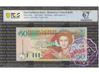 East Caribbean 2003 Dominica Central Bank $50 PCGS 67 PPQ
