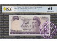 New Zealand 1967 $2 R.N.Fleming PCGS 64