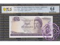 New Zealand 1977 H.R.Hardie $2 P164d 9Y3* PCGS 64 PPQ