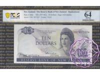 New Zealand 1977 H.R.Hardie $10 P166d 99C* PCGS 64 PPQ
