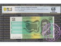 1985 $2 R89L Johnston/Fraser PCGS 68 OPQ
