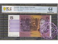 1985 $5 R209a Johnston/Fraser PCGS 64 PPQ