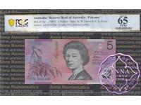 1995 $5 AA95 Fraser/Evans PCGS 65 OPQ