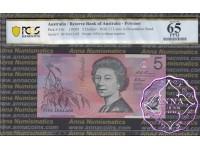 1995 $5 217i Fraser/Evans PCGS 65 OPQ