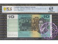 1991 $10 R313aL Fraser/Cole MRR PCGS 65 OPQ
