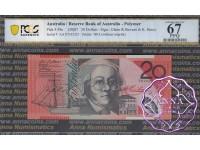 2007 $20 R421aF AA07 Stevens/Henry PCGS 67 OPQ