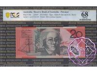 2007 $20 R421aF AA07 Stevens/Henry PCGS 68 OPQ