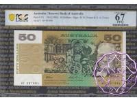 1993 $50 Fraser/Evans Black HF PCGS 67 OPQ