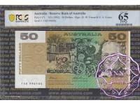 1993 $50 R515L FAB Fraser/Evans PCGS 65 OPQ
