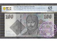 1984 $100 R608 Johnston/Stone PCGS 65 OPQ