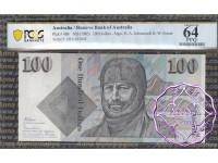 1985 $100 R609 Johnston/Fraser PCGS 64 PPQ