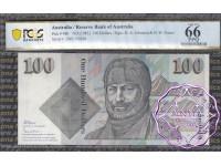 1985 $100  R609 Johnston/Fraser PCGS 66 OPQ