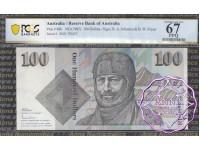 1985 $100 R609 Johnston/Fraser PCGS 67 PPQ