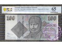 1990 $100 R612 Fraser/Higgins PCGS 65 OPQ