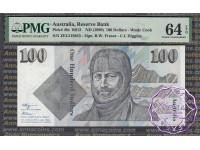 1990 $100 R612 Fraser/Higgins PMG 64 EPQ