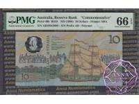 1988 R310aF $10 1nd issue AB1094 Johnston/Fraser PMG 66 EPQ