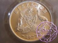 Australia 1927 Sixpence PCGS MS64