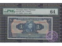 Nicaragua 1941 Banco Nacional de Nicaragua 1 Cordoba PMG64