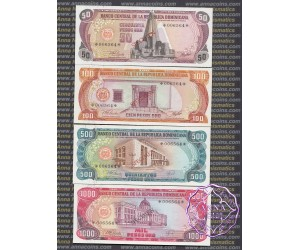 Dominican 1978 Specimen 8 Notes Set