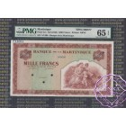 Martinique 1942 Specimen 1000 Francs PMG65