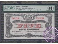 Northern Ireland 1942 Belfast Banking Company Limited £5 PMG64