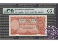 1939 R12 Ten Shillings Sheehan/McFarlane PMG65