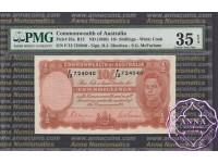 1939 R12 Ten Shillings Sheehan/McFarlane PMG35