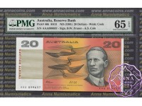 1991 R413i $20 AAA serials Fraser/Cole PMG65 EPQ