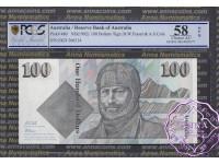 1991 R613 $100 Fraser/Cole PCGS OPQ58