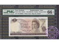 New Zealand 1975 R.L.Knight $1 $2 $5 082* PMG64-66 EPQ