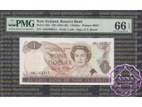 New Zealand 1981 D.T.Brash $1-$50 Matching Serial Set PMG65-67 EPQ