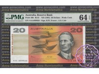 1991 R413i $20 AAA serials Fraser/Cole PMG64 EPQ