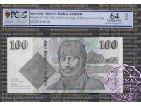 1991 R613 $100 Fraser/Cole PCGS OPQ64