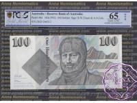 1991 R613 $100 Fraser/Cole PCGS OPQ65