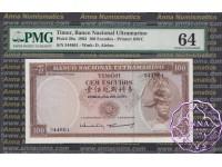 Timor 1963 100 Escudos KM #28a PMG 64