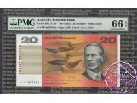 1991 $20 R413 Fraser/Cole PMG 66 EPQ