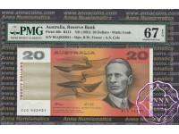 1991 $20 R413 Fraser/Cole PMG 67 EPQ