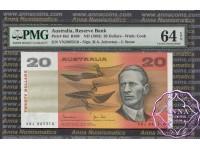 1983 $20 R408 Johnston/Stone PMG 64 EPQ