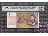 1972 $1 R74 Phillips/Wheeler PMG 67 EPQ
